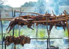Roasted lamb carcass Royalty Free Stock Photography