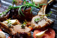 Roasted lamb chop Royalty Free Stock Photo