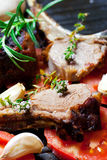 Roasted lamb chop Stock Images