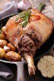 Roasted lamb chop stock photos