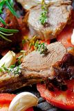 Roasted lamb chop Royalty Free Stock Photos