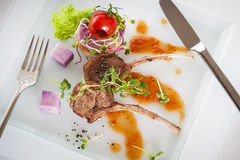 Roasted lamb chop Stock Photography
