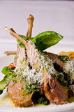 Roasted lamb chops Royalty Free Stock Images