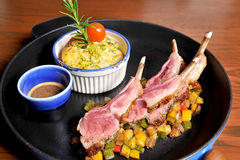 Roasted Lamb Chops Royalty Free Stock Image