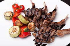 Roasted Lamb Chops Royalty Free Stock Photography