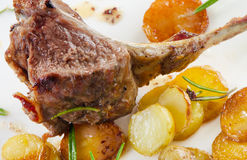 Roasted Lamb Chops Stock Photo