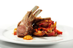 Roasted Lamb Chops Royalty Free Stock Photos