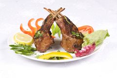 Roasted lamb chops Stock Photography