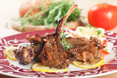 Roasted lamb chops Stock Image