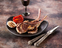 Roasted lamb cutlets ribs Stock Images