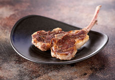 Roasted lamb cutlets ribs Stock Photo