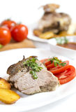 Roasted lamb meat Stock Photography