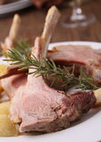 Roasted lamb and potato Stock Photos