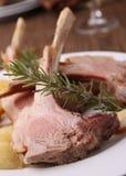 Roasted lamb and potato Stock Photos