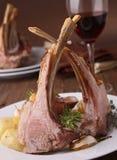 Roasted lamb and potato Royalty Free Stock Photos