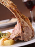 Roasted lamb and potato Stock Photography