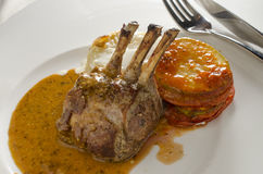 Roasted lamb rack Royalty Free Stock Photo