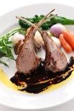 Roasted lamb rib chops Royalty Free Stock Image