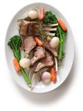 Roasted lamb rib chops Stock Image