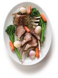 Roasted lamb rib chops Stock Image