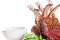 Roasted lamb rib Royalty Free Stock Image