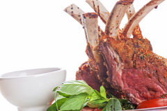 Roasted lamb rib Royalty Free Stock Photography