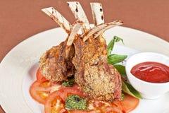 Roasted lamb rib Stock Photo