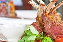 Roasted lamb rib Stock Photos