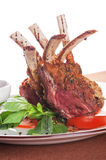 Roasted lamb rib Stock Images