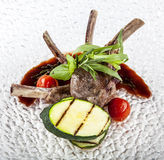 Roasted lamb rib chops Royalty Free Stock Photo