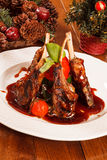Roasted lamb ribs Royalty Free Stock Images