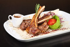 Roasted lamb ribs Stock Images
