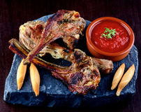 Roasted Lamb Ribs Royalty Free Stock Photo