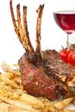 Roasted Lamb Ribs with Potatoes Stock Image