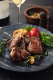 Roasted lamb ribs with spices Stock Image