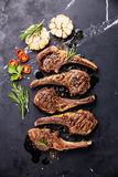 Roasted lamb ribs with spices and garlic Stock Photos