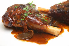 Roasted Lamb Shanks Royalty Free Stock Photography