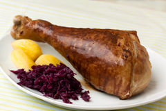 Roasted leg of turkey Royalty Free Stock Photo