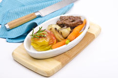 Roasted liver with vegetables Stock Images