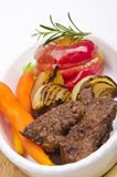 Roasted liver with vegetables Stock Photography