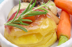 Roasted liver with vegetables Royalty Free Stock Images