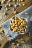 Roasted Macadamia Nuts with Sea Salt Stock Photo
