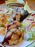 Roasted mackerel Stock Image