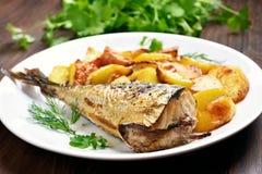 Roasted mackerel fish Royalty Free Stock Photography