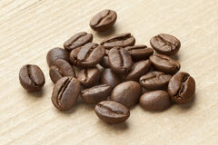 Roasted  Malabar coffee beans Stock Photography