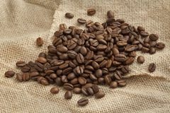 Roasted  Malabar coffee beans Royalty Free Stock Photography