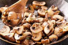 Roasted mashrooms Stock Photos