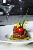 Roasted meat appetizer. Mediterranean restaurant cuisine - Roasted meat appetizer Stock Photography