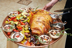 Roasted Meat On A Dish Royalty Free Stock Photo
