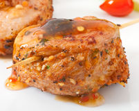 Roasted meat rolls with sweet royalty free stock photography